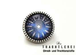 Trachtenknopf alt-silber mit Einlage Blau G10077