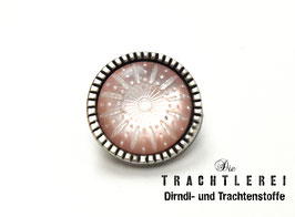 Trachtenknopf alt-silber mit Einlage Rosa G10078