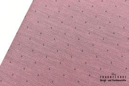 Baumwolljacquard Tüpfelchen Dunkelrosé - Grau A10472