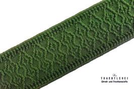 Gummiband für Trachtengürtel Rhombus Lodegrün I10029