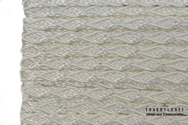 Posamentenborte Zopfmotiv Wollweiß K20002