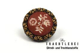 Trachtenknopf  Brüniert - Ziegelrot  G10086