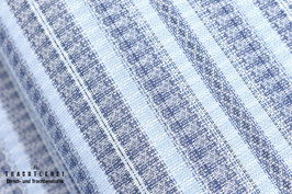 Baumwolljacquard Mittelblau gestreift A10338