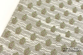 Trachtenjacquard Wollweiß-Taupe-Reseda