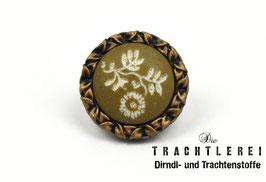 Trachtenknopf  Brüniert - Flechtengrün  G10085