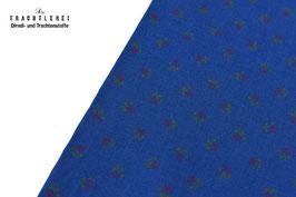 Trachtenstoff Baumwolle Cobaltblau - Rot - Grün B10173