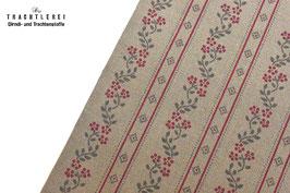 Trachtenstoff Baumwolle Taupe - Weinrot-Anthrazit B10311