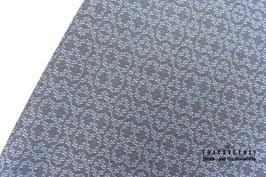 Baumwolljacquard Dusty-Blue - Grau Motive A10463