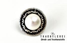 Trachtenknopf mit weißer Perle G10023