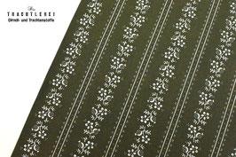 Trachtenstoff Baumwolle Olivgrün gestreift B10346