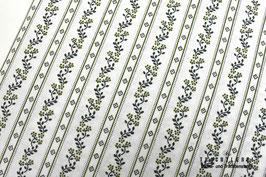 Trachtenstoff Baumwolle Weiß - Dunkelblau - Flechtengrün B10343