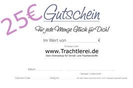 Geschenk-Karte im Wert von 25,00€