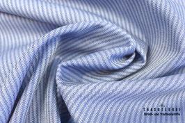Satinierter Baumwolljacquard Gretchen Mittelblau gestreift A10419