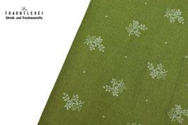 Trachtenstoff Baumwolle Lodengrün Streublümchen B10307