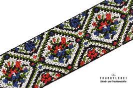 Gummiband für Trachtengürtel Rot-Blau-Grün I10024