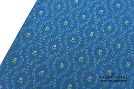 Trachtenstoff Baumwolle Tintenblau-Fliederrosa-Hellgrün B10333