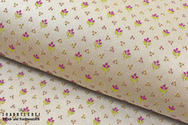 Trachtenjacquard Silberbeige - Fuchsia - Hellgrün A10394
