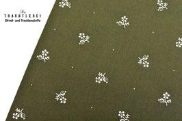 Trachtenstoff Baumwolle Olivgrün B10345