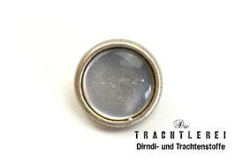 Trachtenknopf alt-silber mit Einlage Perlweiß G10057