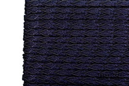 Posamentenborte Zopfmotiv Midnight Blue K20015