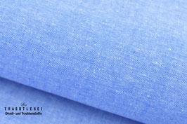 Garngefärbte Baumwolle Mittelblau S60007