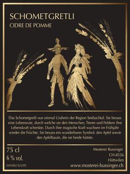 CIDRE DE POMME SCHOMETGRETLI 75cl