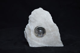 Bergkristal in ruwe speksteen *ENERGIE*