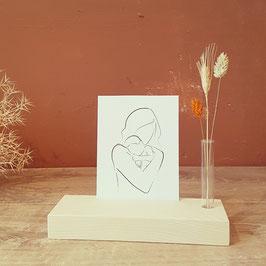 Kaartplankje met droogbloemen