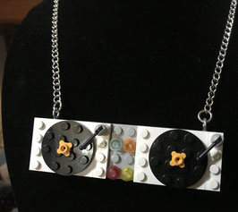 Miss Brixx Lego Turntables Necklace