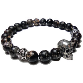 Skull (Schwarzer Howlith)