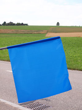 Flagge Blau/ Drapeau bleu (ca.700mm x 620mm)