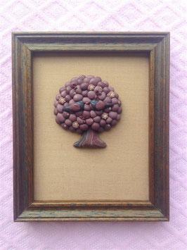 """Kleines Reliefbild  """"Vogelpaar im Baum"""" - natur"""