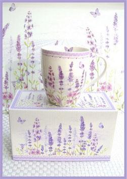 Becher Set  Lavender Field,  Easy Life