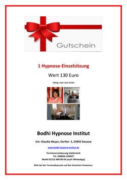 Gutschein Einzelsitzung Hypnose