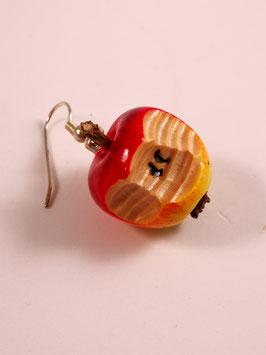 Apfelohrringe rund mit Biss