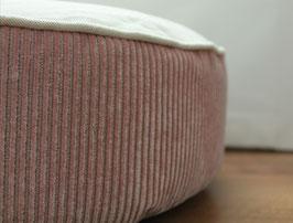 Sitzpouf Natur Cord rosa