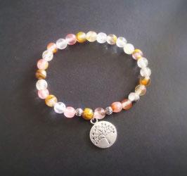 Yoga Armband aus Cherry Quarz Kristalle