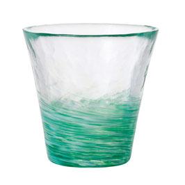 *HANDMADE GLASS CUP: JADE