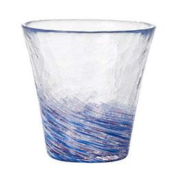 *HANDMADE GLASS CUP:  WISTERIA