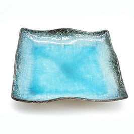 *LARGE SQUARE PLATE : BLUE SKY