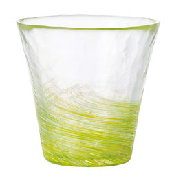 *HANDMADE GLASS CUP: RAPESEED BLOSSOM