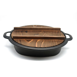 *CAST IRON SUKIYAKI / GYOZA PAN with LID