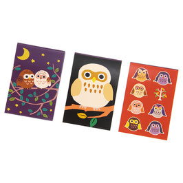 MEMO PADS 3PSC SET: OWL