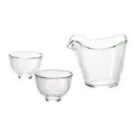 *GLASS SAKEWARE: HEAT-PROOF HANDMADE GLASS SAKE SET