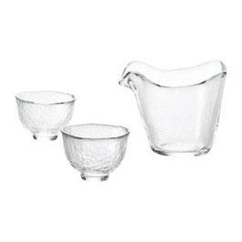 *GLASS SAKEWARE: HEAT-PROOF HANDMADE GLASS SAKE SET