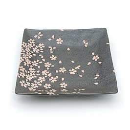 *SQUARE PLATE : BLACK SAKURA