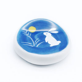 *CHOPSTICK REST: RABBIT MOON BLUE