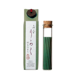 *RIRAKU STICK INCENSE 15P: GREEN TEA