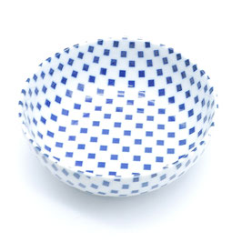 *MEDIUM BOWL : ICHIMATSU CHECK BLUE