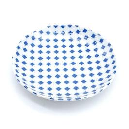 *MEDIUM PLATES: ICHIMATSU CHECK BLUE